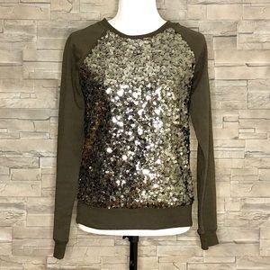 Forever 21 brown sequinned sweatshirt